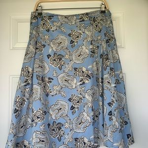 Talbots Blue Toile Lined Skirt - size 22W